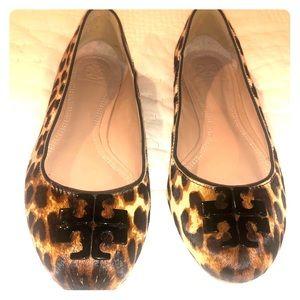 Tory Burch Leopard flats size 7.5
